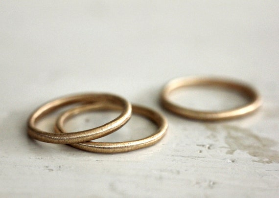 Rustic Love Gold Band
