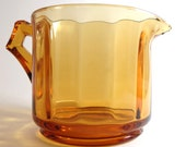Amber Cambridge glass creamer pattern 620