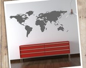 World Map Wall Decal sticker with little round stickers to settle where you went or where you wish to live