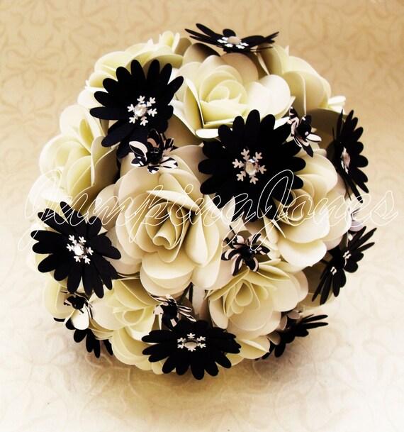 Black and White Bouquet - Wedding, Centerpiece