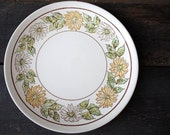 """Taylor Smith Taylor Daisy Wreath Platter Plate, Large 12"""" Mid Century Vintage Dinnerware China"""