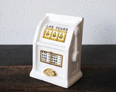 Vintage Las Vegas Slot Machine Coin Bank, Golden Nugget Casino Hotel Souvenir