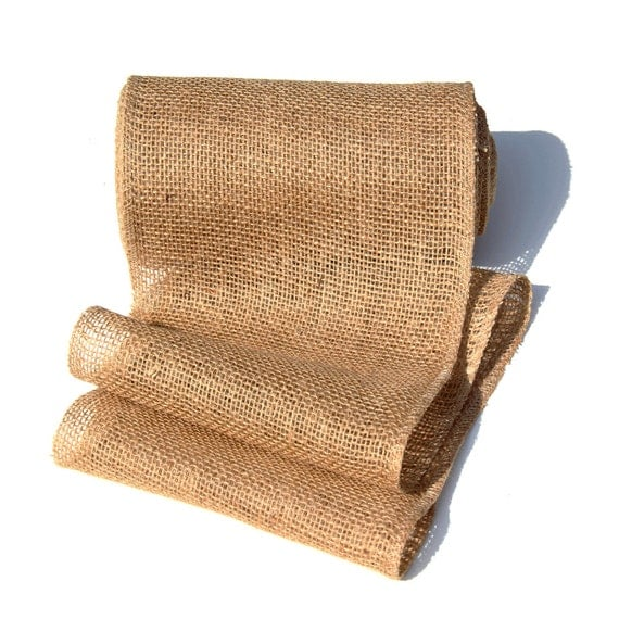 9 x10 yards burlap jute garland ribbon for table runner for Burlap ribbon craft ideas