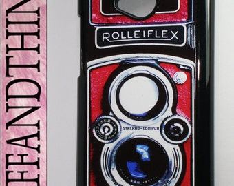 The New HTC One Vintage Red Rolleiflex Retro Camera Hard Case Cover HTC One