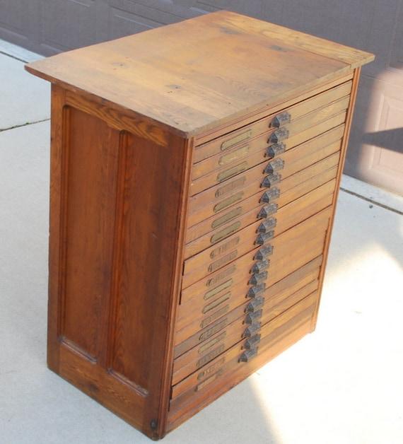 Hamilton Manufacturing Printers Cabinet Antique Printers