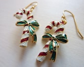 Candy Cane Cutie Earrings - Weirdly Cute Christmas Jewelry - Unique Gift Idea