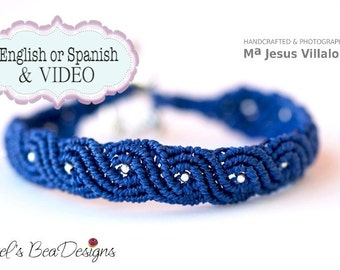 TUTORIAL Exotic Twists BLUE Micro Macrame Bracelet