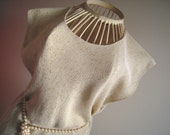 Silk and Linen Top with Gold Thread