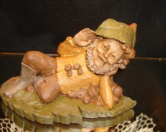 GARDEN GNOME, JEFF by Tom Clark Collectibles, 1983, resin figurines, fairies, gnomes, woodspirits