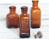 Vintage Bottle Rare Amber Glass Poison Apothecary Instant Collection