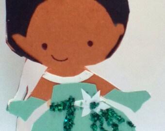 Handmade Princess Tianna Card- Cardstock