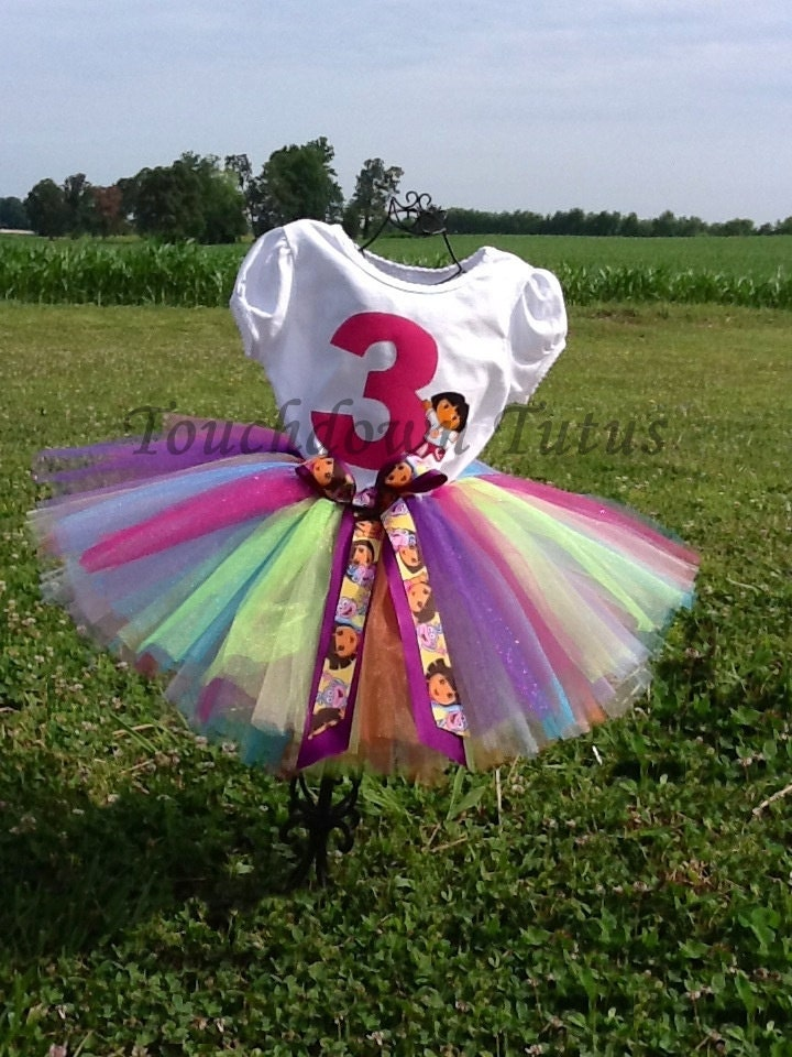 Dora The Explorer tutu outfit Pick your number