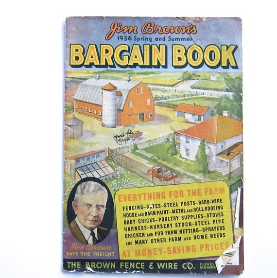 Vintage Catalog Jim Browns Bargain Book Everything for the Farm Vintage Advertising