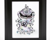 Photo Monster  - Say Cheese - 5 x 7in. illustration print