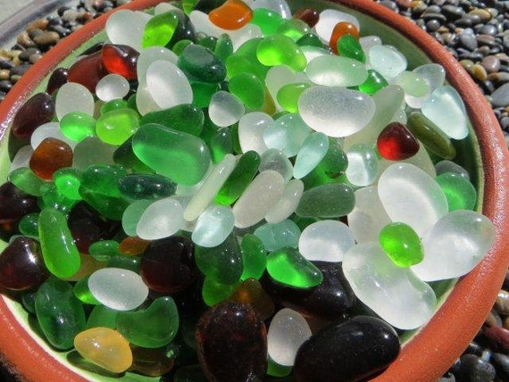 sale 1 Lb. Rough and SMOOTH sea glass  RS 822-D 1 lb.