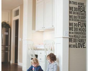 House Rules Vinyl Wall Phrase
