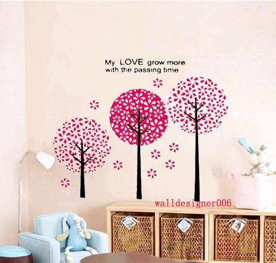 Floral wall decal girl room decor wall decor wall sticker wall