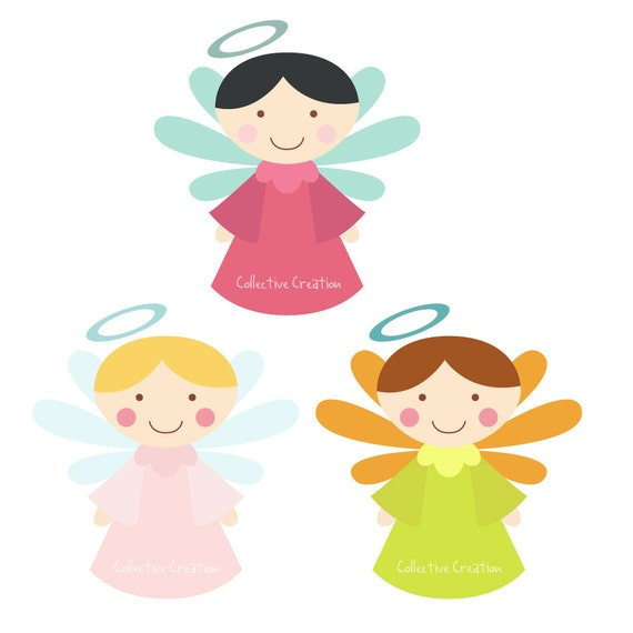 Little Angels Digital Clipart Clip Art for by ...