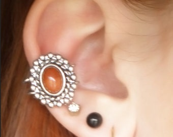 Amber Stone Ear Cuff