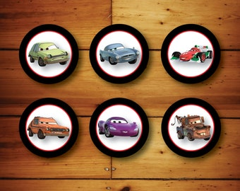 INSTANT DOWNLOAD - Cars 2 Cupcake Toppers/Circles