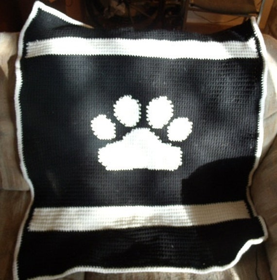 PawPrint Afghan in Black & White