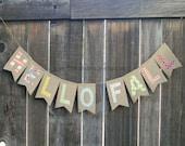 HELLO FALL burlap banner