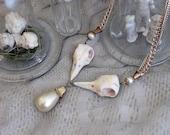 Halloween Bird skull necklace -  vintage assemblage