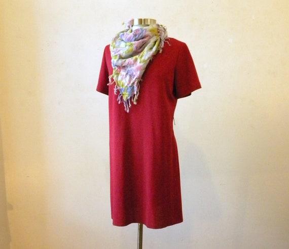 1970s Hot Pink Dress / The Best Packable Travel Dress / M - L