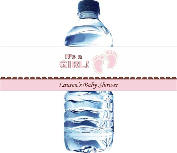 30 Personalized Water Bottle Labels, Baby Shower, Birthday, etc - Waterproof and self stick