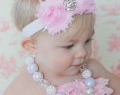 Girls Chunky Necklace - Snow White