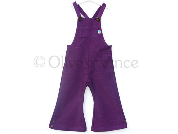 Retro purple toddler dungarees limited edition last pair sizes from 12 months up to 3yrs