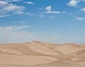 "Landscape Photography, ""California Sand Dunes"",  8x10 Fine Art Photographic Print, Customizable Print Sizes, Travel Photography"