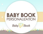 personalize Your Baby Steps Book - Baby Journal & Memory Book