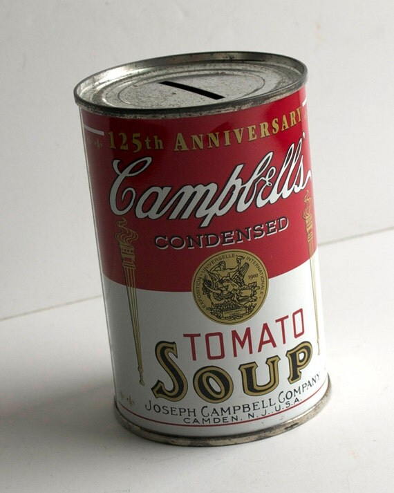 Campbell's Soup Can Bank. Andy Warhol Art Object...