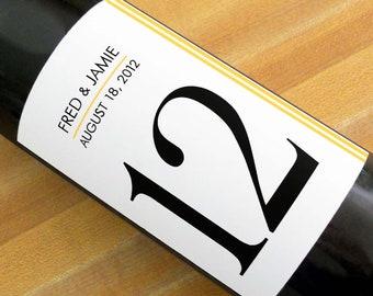 Custom Wine Labels - Simple Stripe Table Numbers (Set of 20)