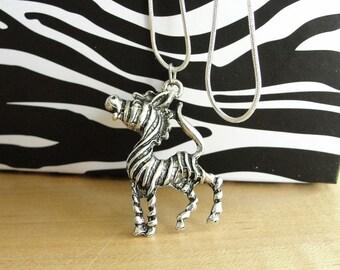 Zebra Pendant Necklace - EDS Awareness