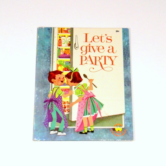 Let's Give A party, Vintage 1960 Wonder Books Jell-O Collaboration