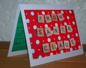 Personalized Christmas Card/Letter from Santa - Polka Dots