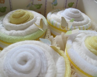 Unisex Diaper Washcloth and Socks 10 Piece Cupcake Set