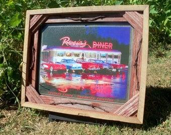 Barnwood framed Rosie's Diner