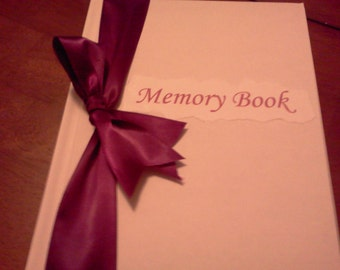 Bride Memory book Purple ribbon  ,Domichcreations etsy