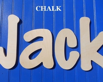 "SALE :) Wall Letters - Unpainted Wood - Chalk - plus other Fonts - Gifts and Decor for Nursery, Home, Playrooms, Dorms - 10"" Size"