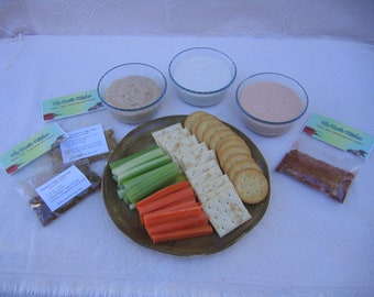 Dips and Spread Mix, Assorted Dip Mixes, Hand Blended Dip Seasoning Mixes, trio party dip dry mix packets