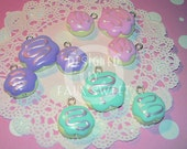 Pastel Sugar Cookie Charms - 3 Color and 2 Size Choices - Sugar Plum Collection