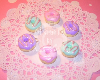 Pastel Dougnut Charm - Choose from 3 Colors