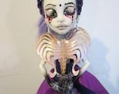 OOAK, One of a kind Monster High Doll Custom Repaint - Stabetha Heart