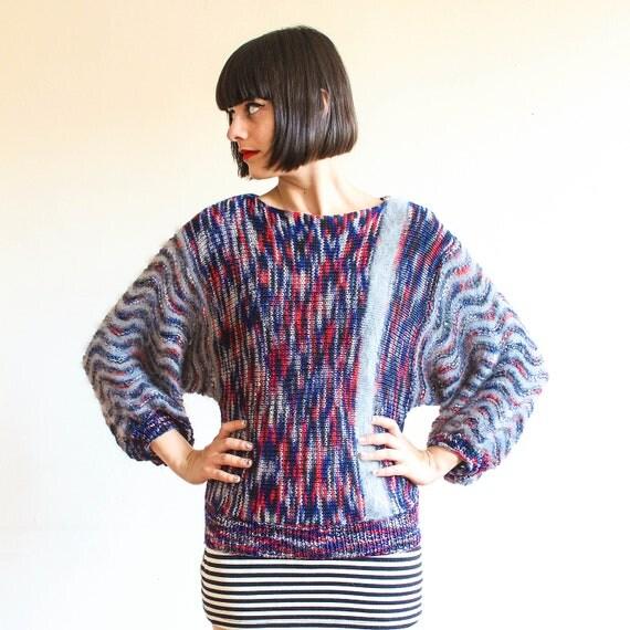 dolman sleeve angora knit sweater s-l