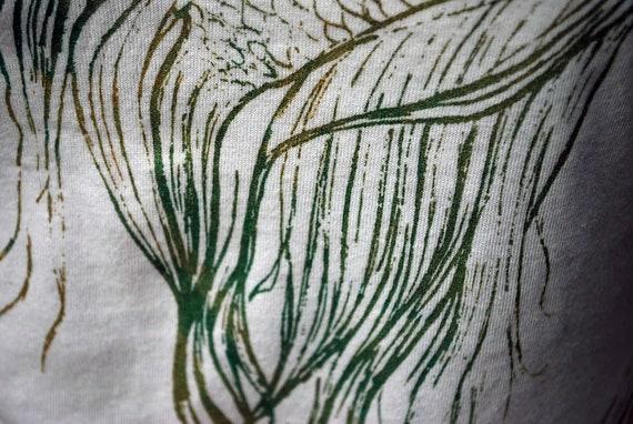 Womens Medium Betta Fish tee - Organic Cotton and Bamboo Tee with Screenprint