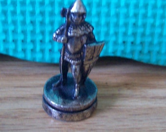 Metal 1 inch Medieval type soldier Action Figure or Chess peice.