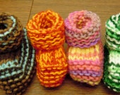 Hand Knitted Baby Booties Size 0-3 Months Machine Wash